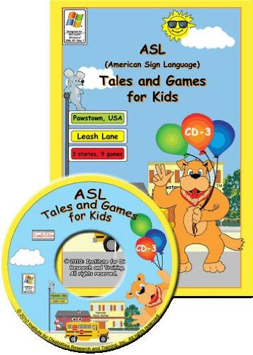 ASL American Sign Language Tales and Games for Kids #3- Leash Lane for Windows Only