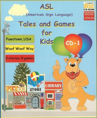 ASL American Sign Language Tales and Games for Kids #1 (Woof Woof Way) for Windows Only