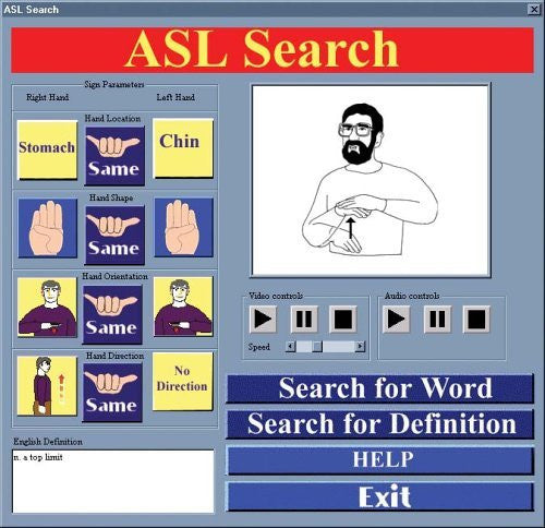 ASL American Sign Language Ultimate Dictionary for Windows Only