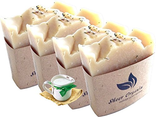 (4 Pack) Sheer Organix Luxury Rejuvenative Handmade Herbal Soap, 3.52 oz. / 100g