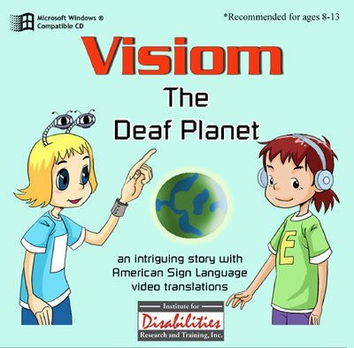 ASL American Sign Language - Visiom - Deaf Planet - A Story, A Dictionary of Words and Idioms and Study Questions for Windows Only