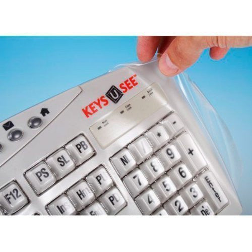 Biosafe Anti Microbial Keyboard Cover for Keys U See Keyboards - Protect From Dirt, Dust, Liquids and Contaminants, Fights Microbes and Germs which may Adhere to Typing Finger Tips - Clean Solution for Laboratories, Hospitals, and Clean Rooms - The Keybo
