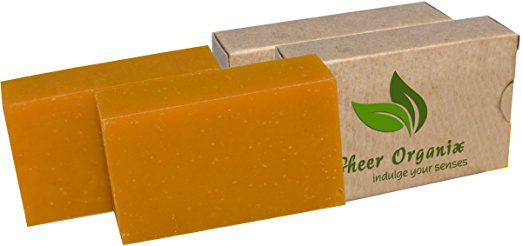 (2 Pack) Certified Organic Sheer Organix Rejuvenative Herbal Soap Handmade in the USA, 4 oz. / 113g