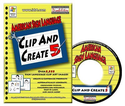 American Sign Language Clip and Create Ver. 5 - ASL Clip Art and ASL Games