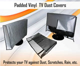 "Large Flat Screen TV / LED / HDTV Vinyl Padded Dust Covers With Remote Control Pocket For Protection from Weather Elements Ideal for Outdoor Locations Such as Restaurants, Hotels, Marinas or Poolside Locations (55"" Cover - 52.25"" x 4"" x 31.5"")"