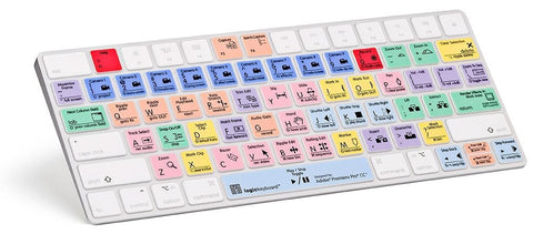 LogicKeyboard Adobe Premiere Pro CC - Apple Magic Color-Coded Shortcut Keyboard Cover Part # LK-LS-PPROCC-MAGC