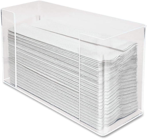 AramediA Transparent Acrylic Towel (Paper) Dispenser 11.5-Inch Wide x 4.2-Inch Deep x 6.75-Inch High, Clear - AH190