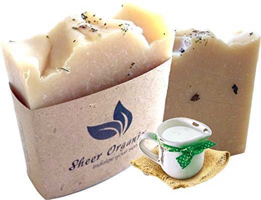 Sheer Organix Luxury Rejuvenative Handmade Herbal Soap, 3.52 oz. / 100g
