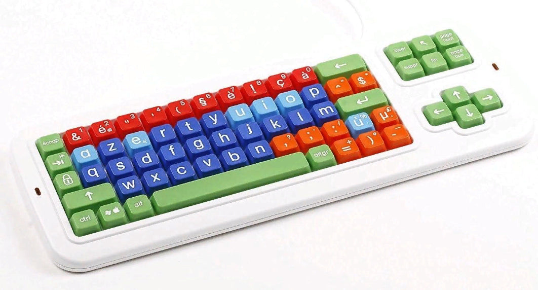 belgian Large Print solid Spill proof Mechanical Keyboard