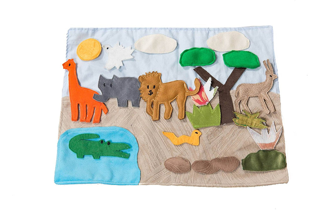 "Handmade Safari Habitat Story Board - (16"" x 1"" x 12"") - Made by Women Artisans"