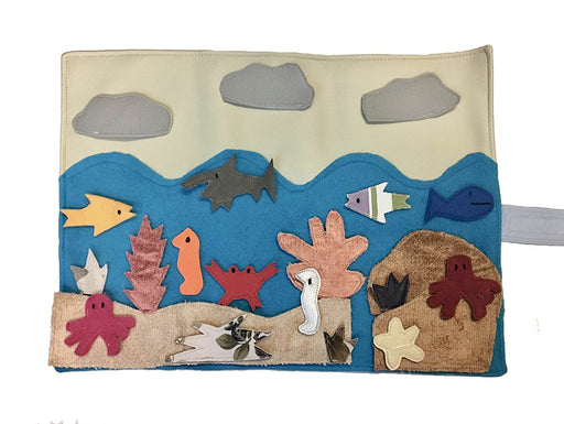 "Handmade - Sea Habitat Story Board (16"" x 1"" x 12"") - Made by Women Artisans"