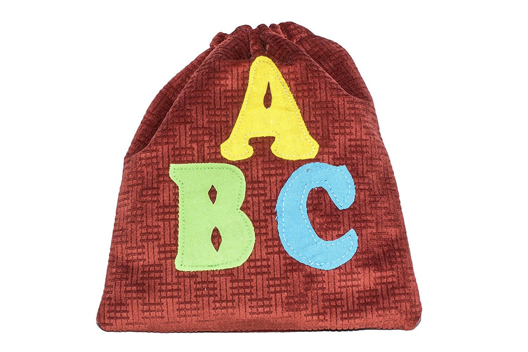 "Handmade English Alphabet Bag - Measures (8"" x 1"" x 9"")"