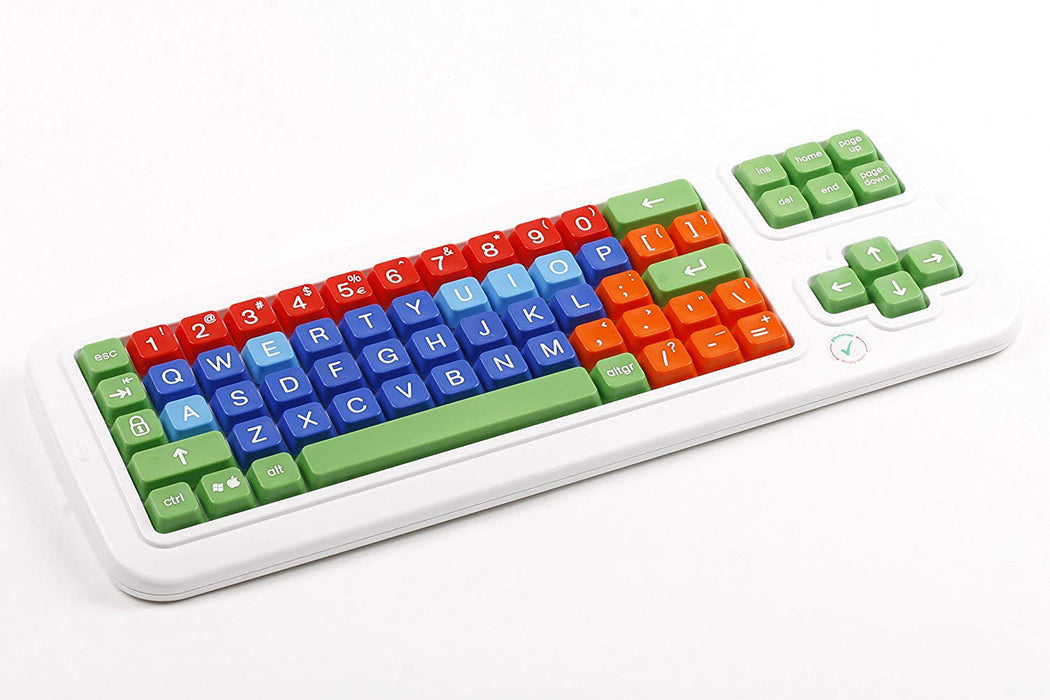 Clevy Colored Keyboard - Uppercase and Colorful Large Keys