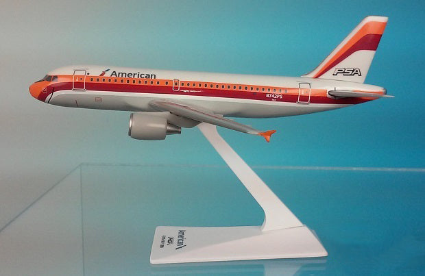 American/PSA A319-100 Airplane Miniature Model Diecast 1:200  Part# AAB-31900H-009
