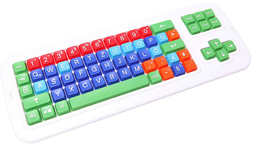 Color Coded German Mechanical Computer Keyboard Uppercase Letter