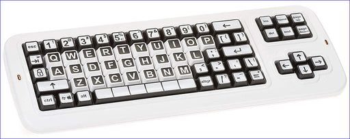 Clevy Color Coded US Large Print solid Spill proof Mechanical Computer Keyboard with Uppercase White Lettering - 102814