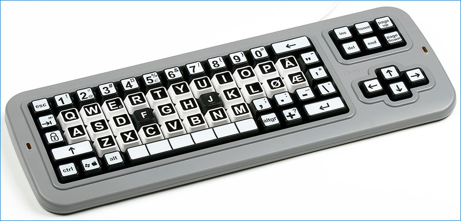 Large Print Mechanical solid spill proof Contrast Norwegian Keyboard