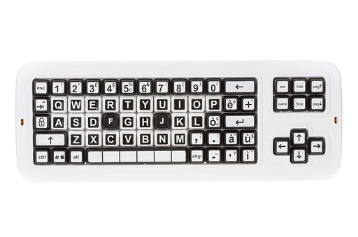 a0757fb0b9b Clevy Italian Large Print solid Spill proof Color Coded Contrast Mechanical Keyboard  with Uppercase Lettering -