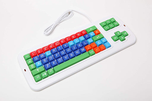 Clevy  Italian Color Coded Large Print solid Spill proof Mechanical Keyboard with Uppercase White Lettering - 102687