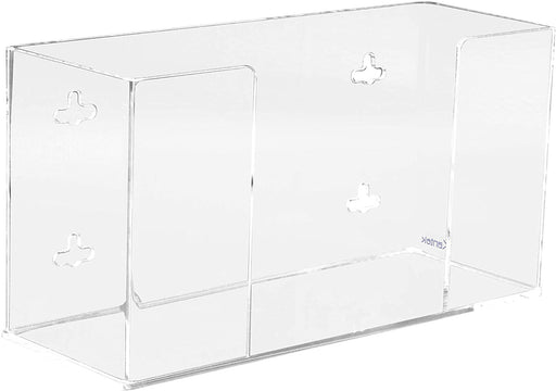 Kantek Acrylic Glove Dispenser, Single Box Capacity, 10.3-Inch Wide x 3.8-Inch Deep x 5.3-Inch High, Clear (AH110)