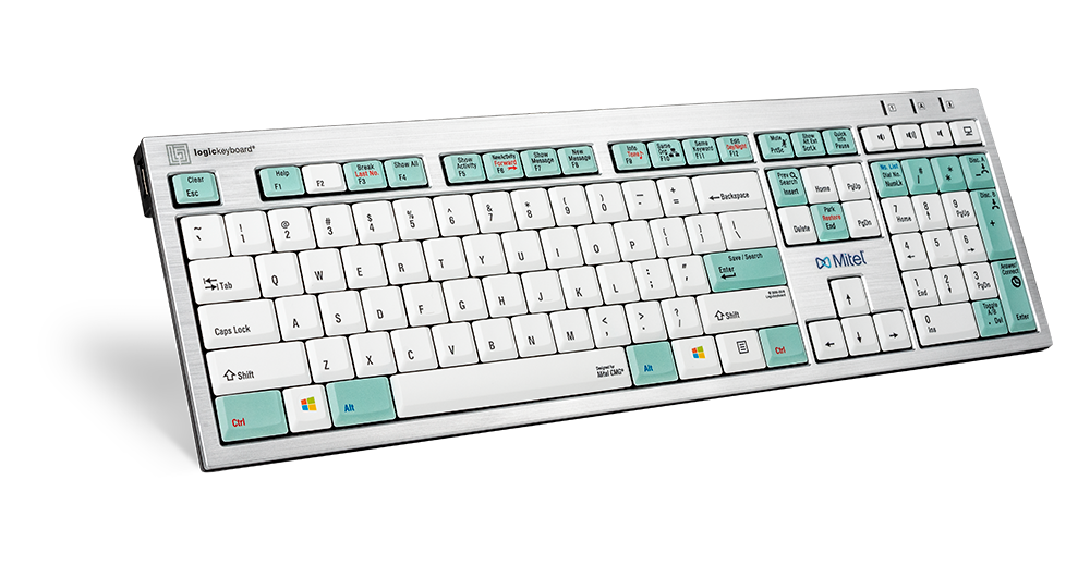 LogicKeyboard Designed for Mitel InAttend Telecom - PC Keyboard - Part: LKBU-CMG-AJPU-US