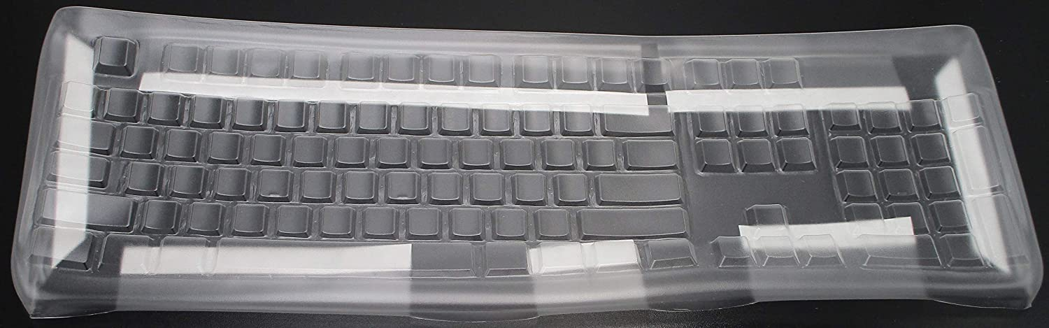 PROTECTCOVERS Keyboard Cover for Logitech K120 Keyboard. Protection While Typing with Adhesive Lining for mounting on Keyboard. US Layout Keyboard Skin
