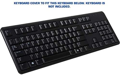 PROTECTCOVERS Keyboard Cover for Dell KB212 Keyboard US Layout Keyboard Skin
