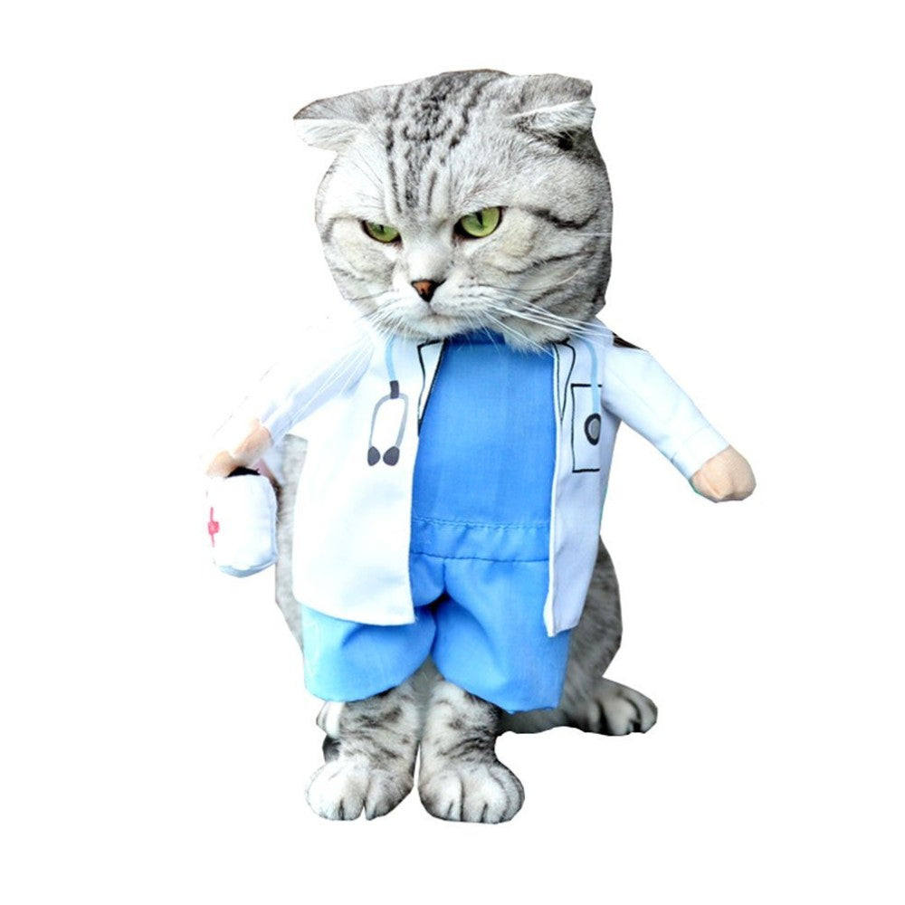 Doctor Costume Dog Jeans Clothes Cat Funny Apparel
