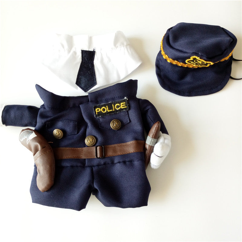 Policeman Style Cat Jeans Clothes Apparel