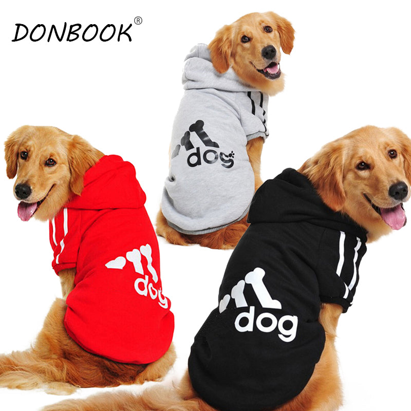 Dog Clothes Golden Retriever Winter Pet Hoodie Sportswear