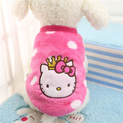 Cartoon Puppy Vest Clothing Soft Warm Cute Coat Jacket