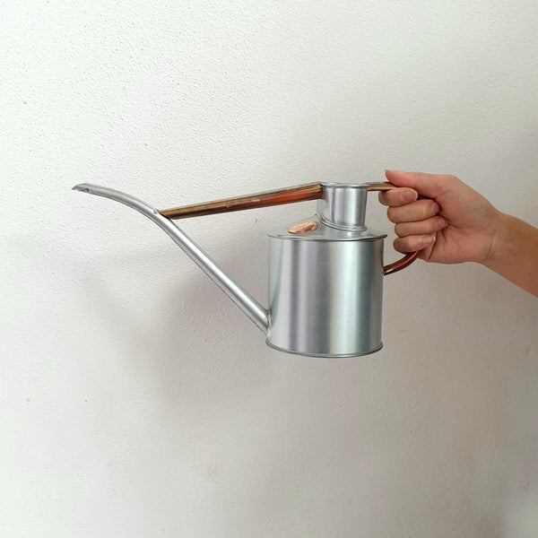 Haws Metal Watering Can Steel + Copper 2 pint