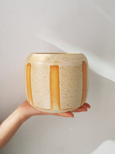 Handmade Planter Small Sand Stripe