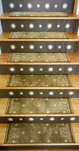 Cosmopolitan By Nourison Celestial C95R Spruce Custom Stair Treads