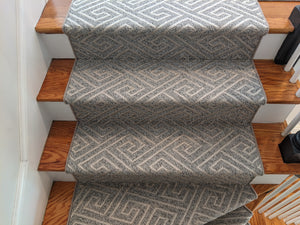 Garrick Dove 32 Lt Grey Stair Runner Custom Installation