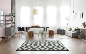 Grey or Green? Area Rug Color Matters