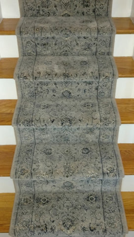 Ancient Garden Grey 26 inch hall and Stair Runner