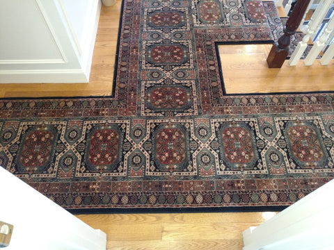 Couristan Wool Geometri Hall Runner with a T Seam