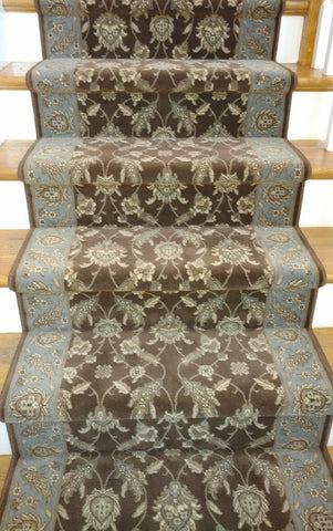 Paladino By Couristan Brown-Blue 31 inch Hall and Stair Runner