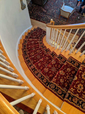 CurvedCircular Stair Runner using Persian garden PG20