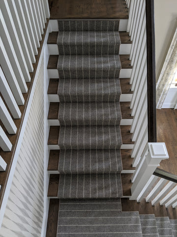 Addington  6251-0004 Dk Grey Custom Stair Runner Installation