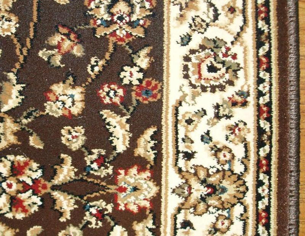 Central Oriental Stair Runner 26 in x 1 ft Dimensions Brown Stair Runner 4341.51C - 26in  Sold By the Foot