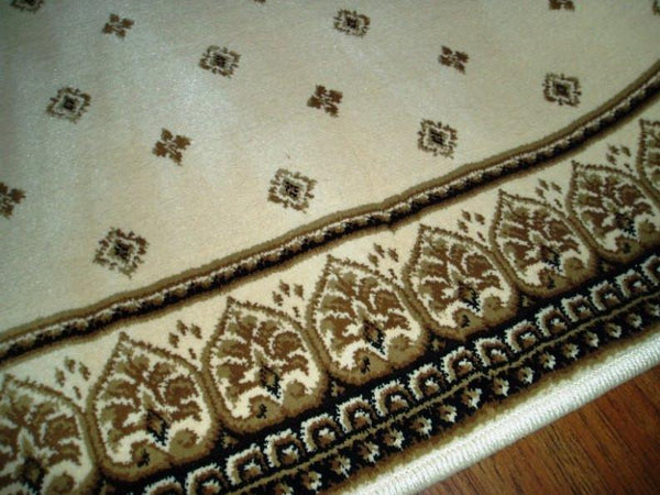 Central Oriental Stair Runner 26 in x 1 ft Dimensions Fleur Ivory Stair Runner 4338.14C- 26  Sold By the Foot