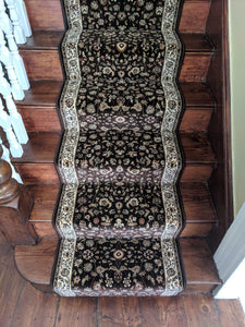 Central Oriental Stair Runner Dimensions Brown Stair Runner 4341.51C - 26in  Sold By the Foot