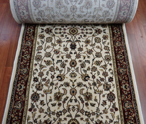 Central Oriental Stair Runners Roll Runner Remnant Dimensions 4341-14 Ivory 26in x 34ft