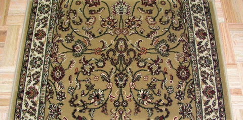 Concord Global Trading Area Rugs 26in x 1 Ft Persian Classics 2021 Gold Stair Runner and Area Rugs  Poly Turkey