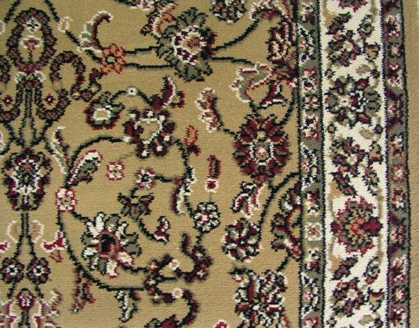 Concord Global Trading Area Rugs 3.11 x 5.7 Rect Persian Classics 2021 Gold Stair Runner and Area Rugs  Poly Turkey