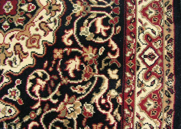 Concord Global Trading Area Rugs 3.11 x 5.7 Rect Persian Classics 2033 Black Stair Runner and Area Rugs  Poly Turkey