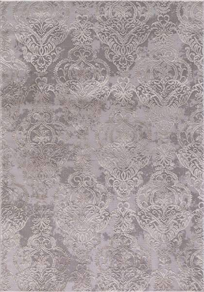Concord Global Trading Area Rugs 3.3 x 4.7 Thema Area Rug Lakeside 2941 Ivory-Grey Poly Made In Turkey