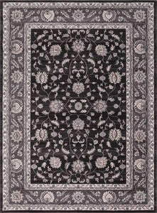 Concord Global Trading Area Rugs Kashan Anthracide Area Rugs 2823 By Concord Global in 6 Sizes